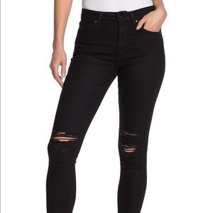 Joes Jeans black for skinny ankle distressed